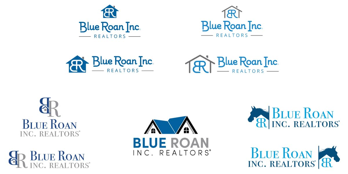 Blue Roan Realtors Logo Development | Vervocity