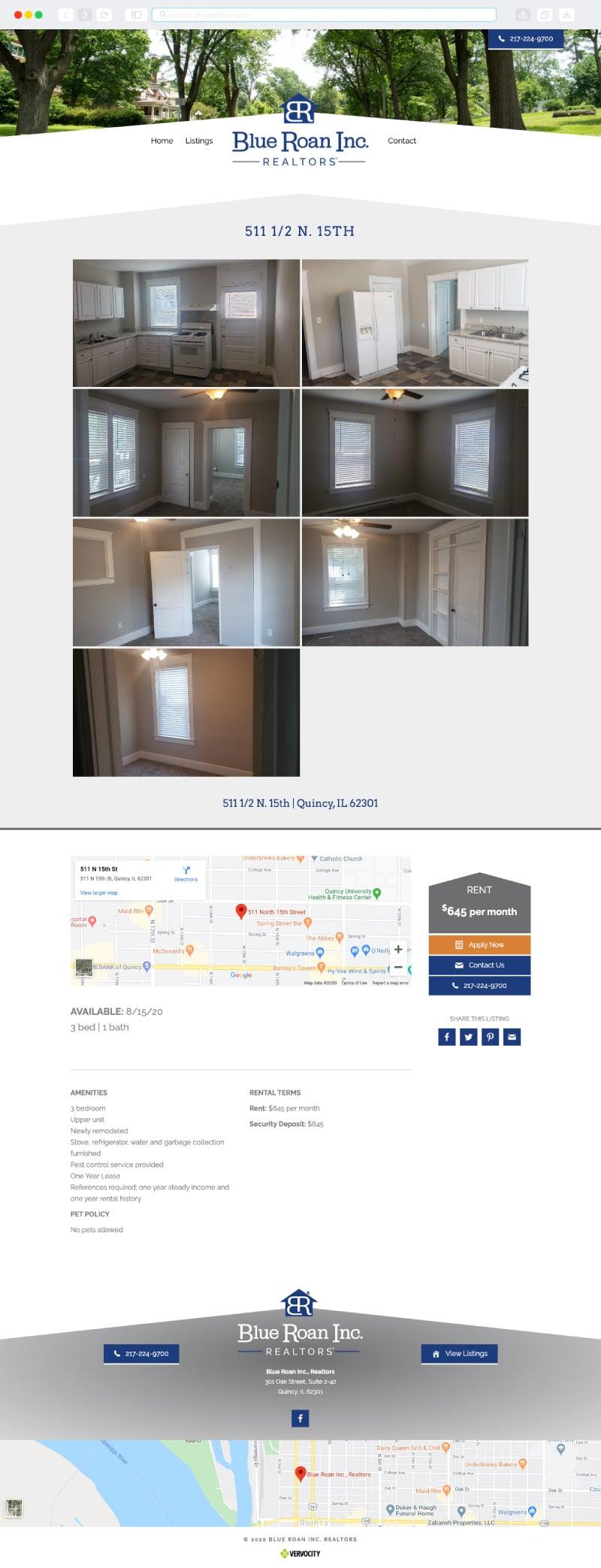 Blue Roan, Inc Realtors Interior Page | Vervocity