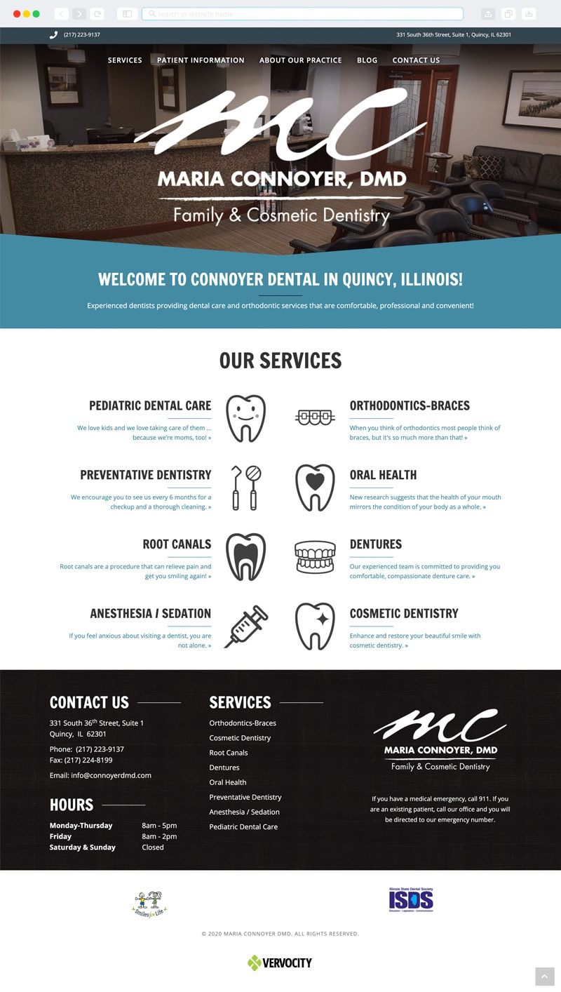 Connoyer Dental Homepage | Vervocity