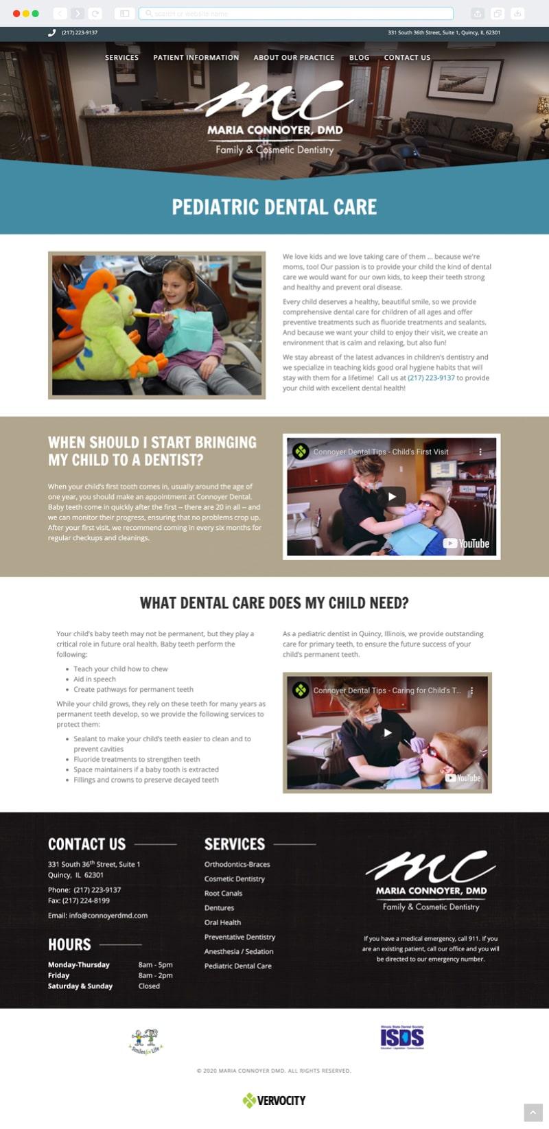 Connoyer Dental Interior Page | Vervocity