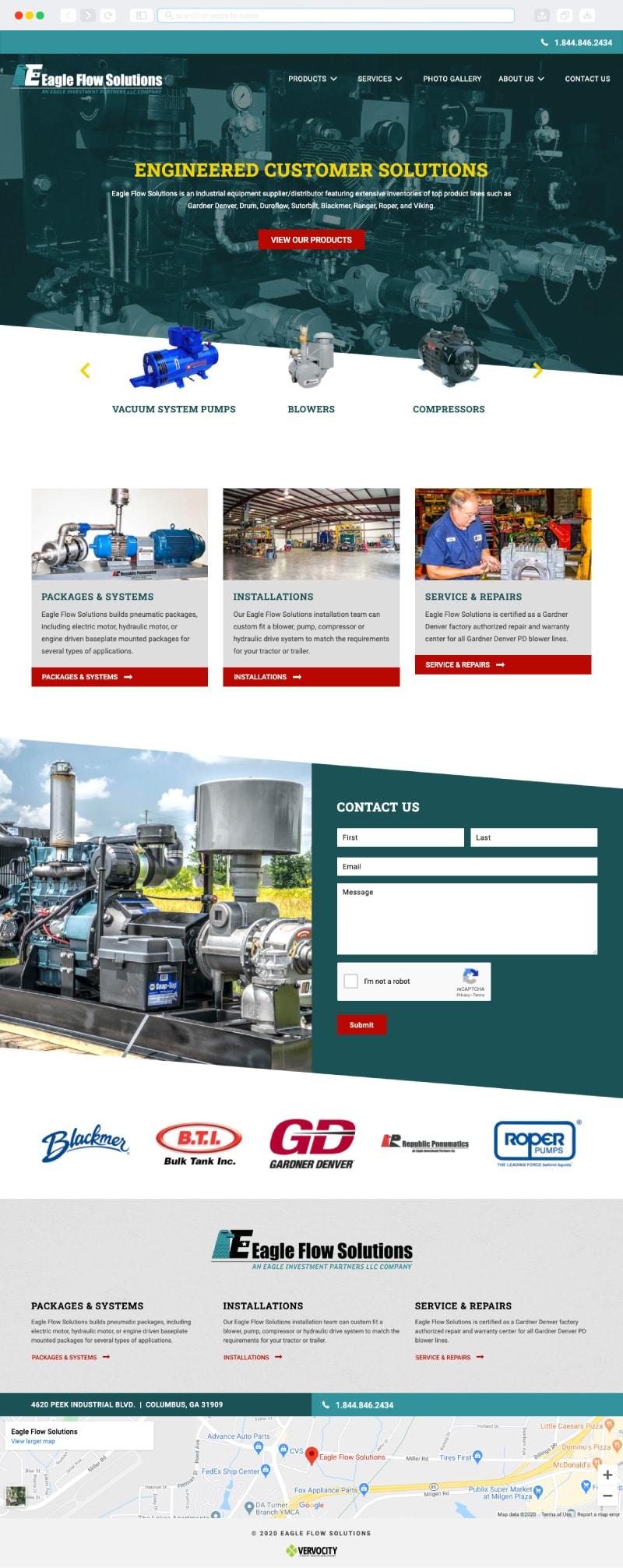 Eagle Flow Solutions Homepage   Vervocity