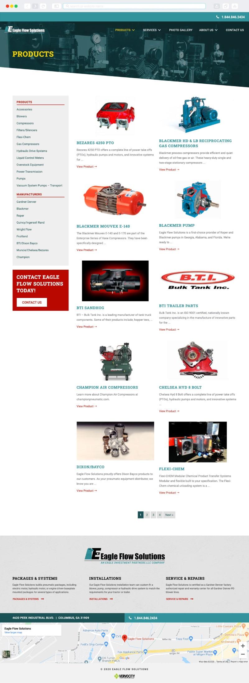 Eagle Flow Solutions Interior Page   Vervocity