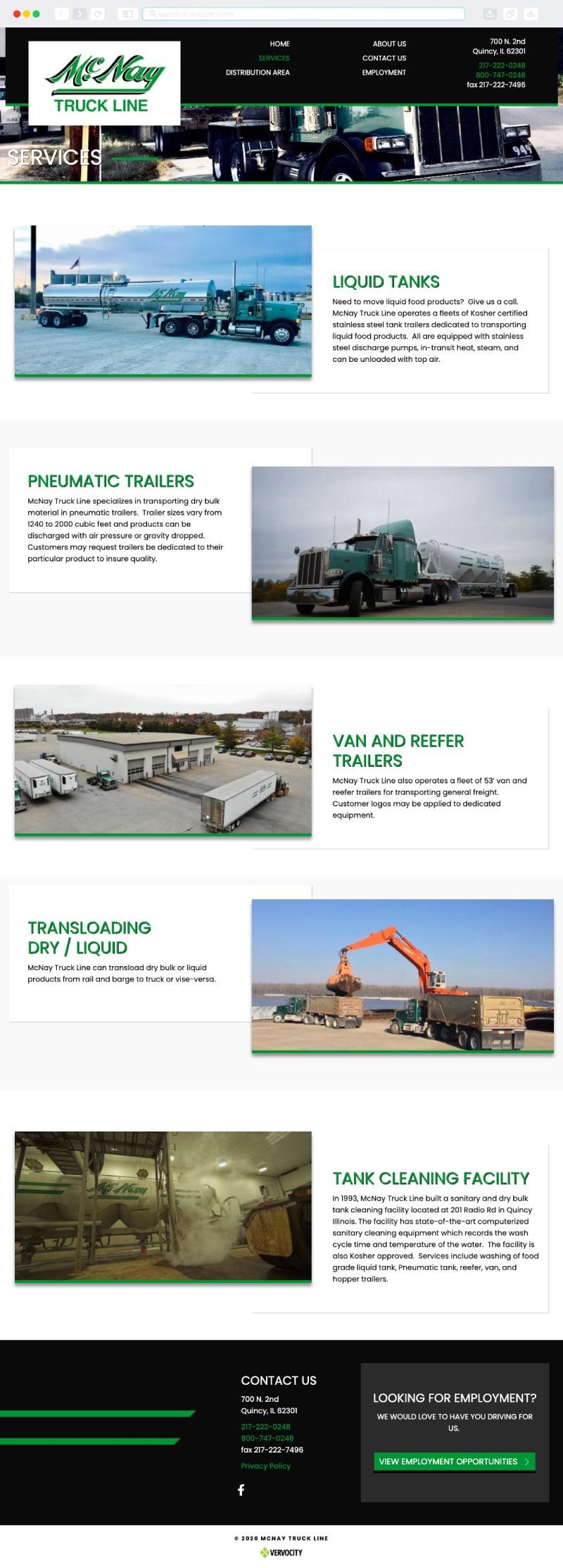 McNay Truck Line Interior Page   Vervocity
