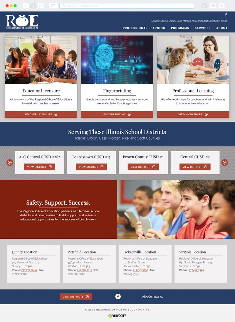 Regional Office of Eduction #1 Homepage | Vervocity