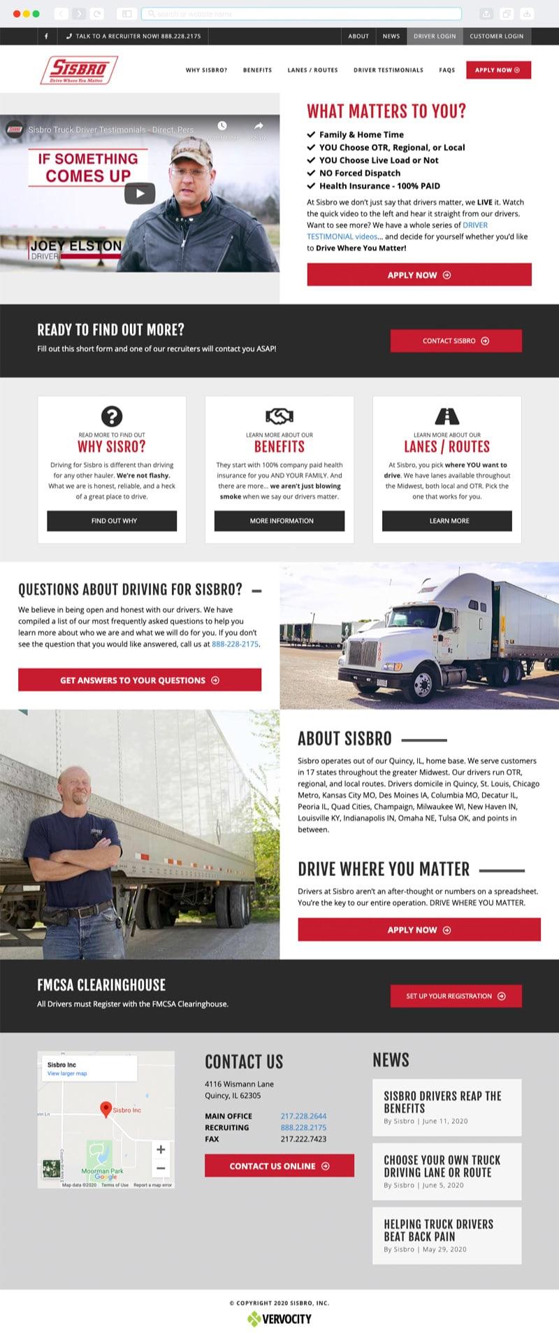 Sisbro Homepage | Vervocity