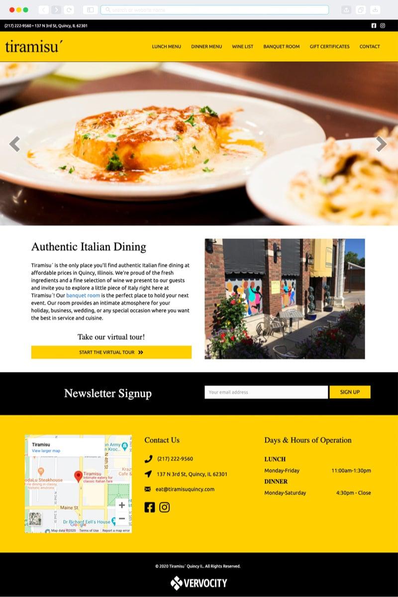 Tiramisu Homepage | Vervocity