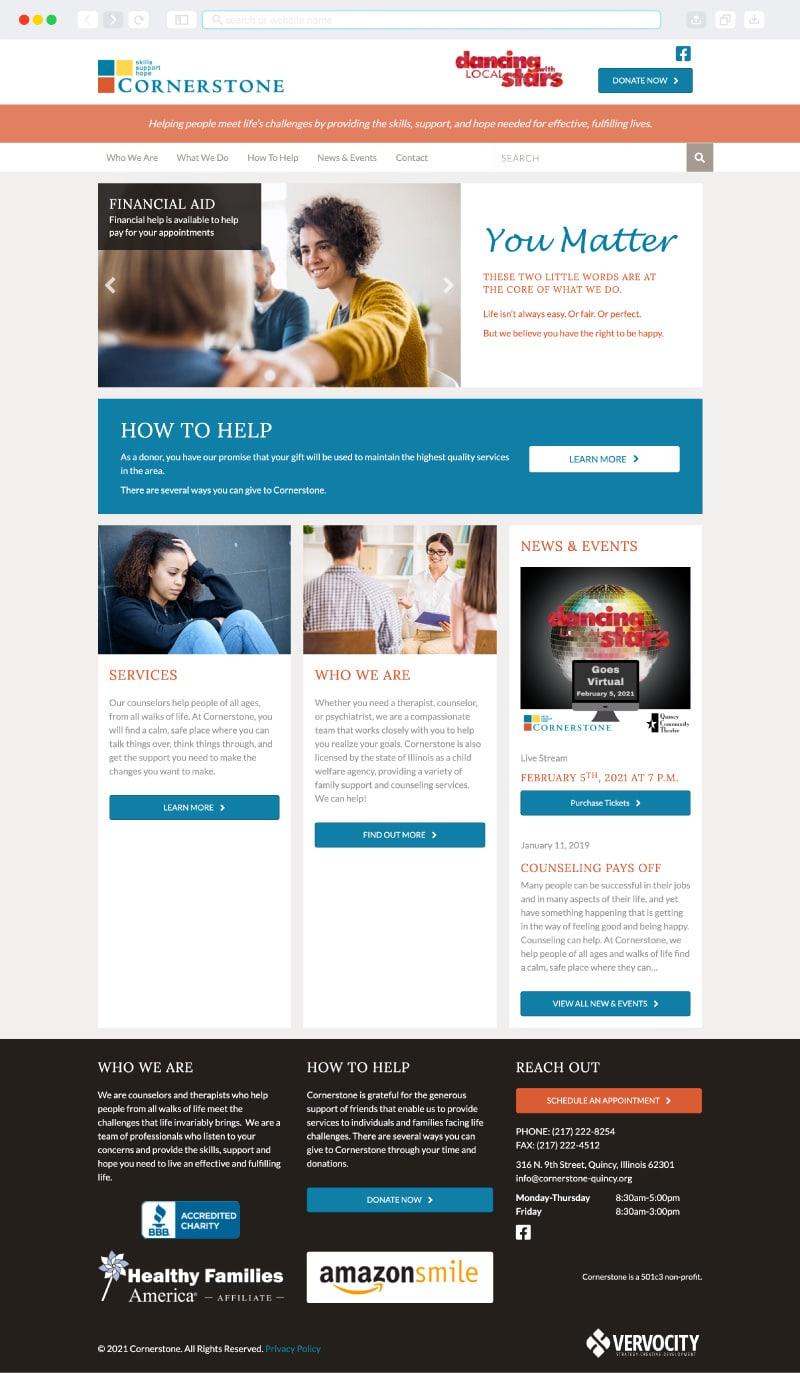 Cornerstone Homepage
