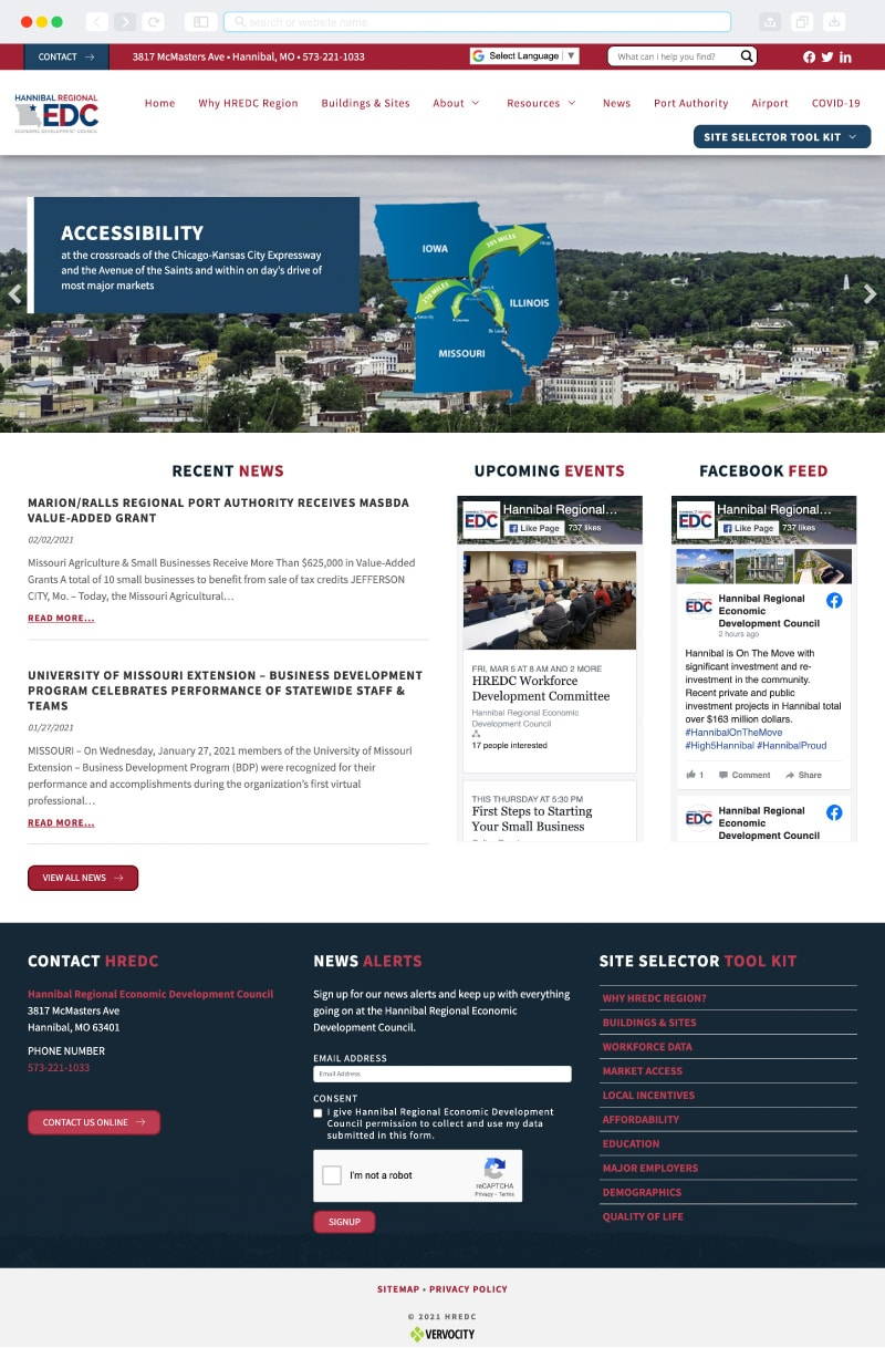 Hannibal Regional Economic Development Council Homepage