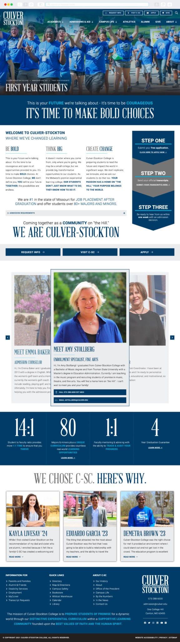 Culver-Stockton College Interior Page by Vervocity